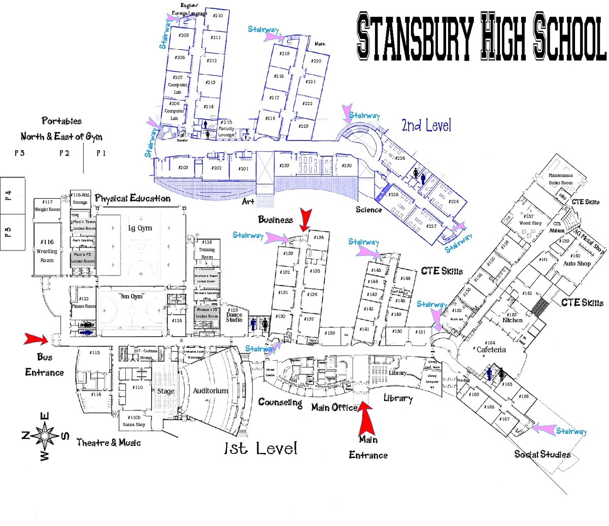 School Campus Map.Campus Map About Us Stansbury High School