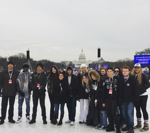 Golden Valley Students in Washington D.C. for the Inauguration on January 20, 2017