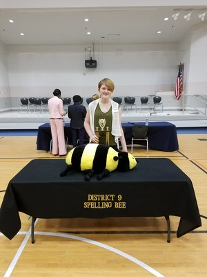 Harper Hall -Region 9 Spelling Bee Winner