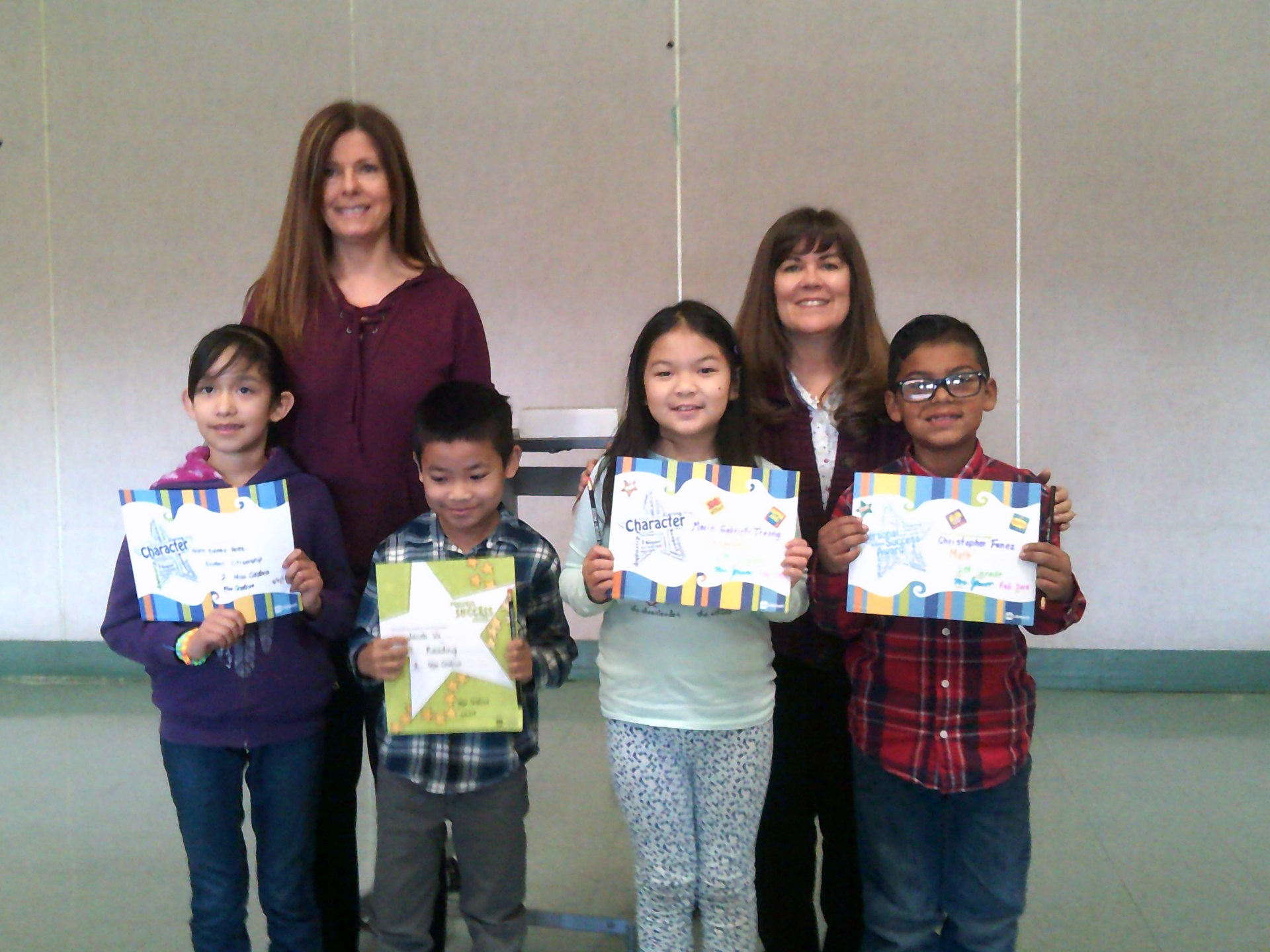 Second Grade February Honorees