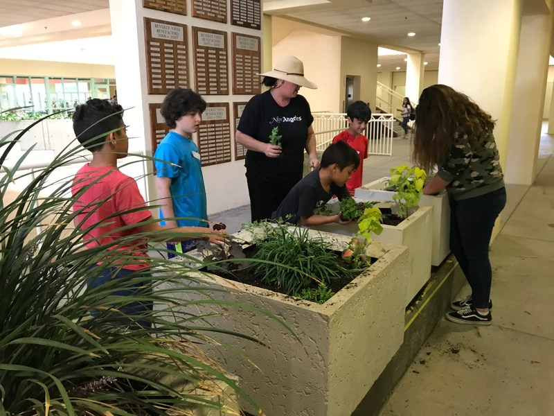 Green Thumbs and Artists Come Together to Beautify the Beverly Vista Campus Thumbnail Image