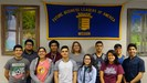 group picture of MHS FBLA students in front of an FBLA banner