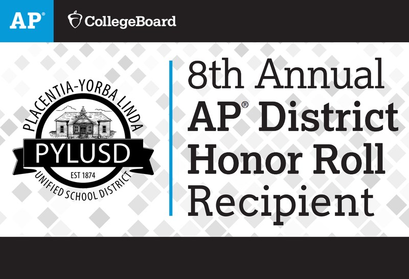 AP District Honor Roll graphic with PYL logo.