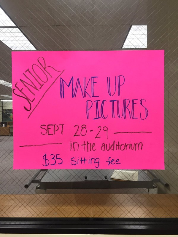 senior picture make up day poster