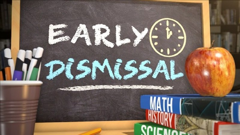 Monday, December 11- Friday, December 15: Early Dismissal at 1:45PM Thumbnail Image