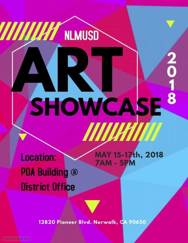 NLMUSD Art Showcase Flyer