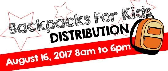 BACKPACKS FOR KIDS DISTRIBUTION AUG. 16 Thumbnail Image