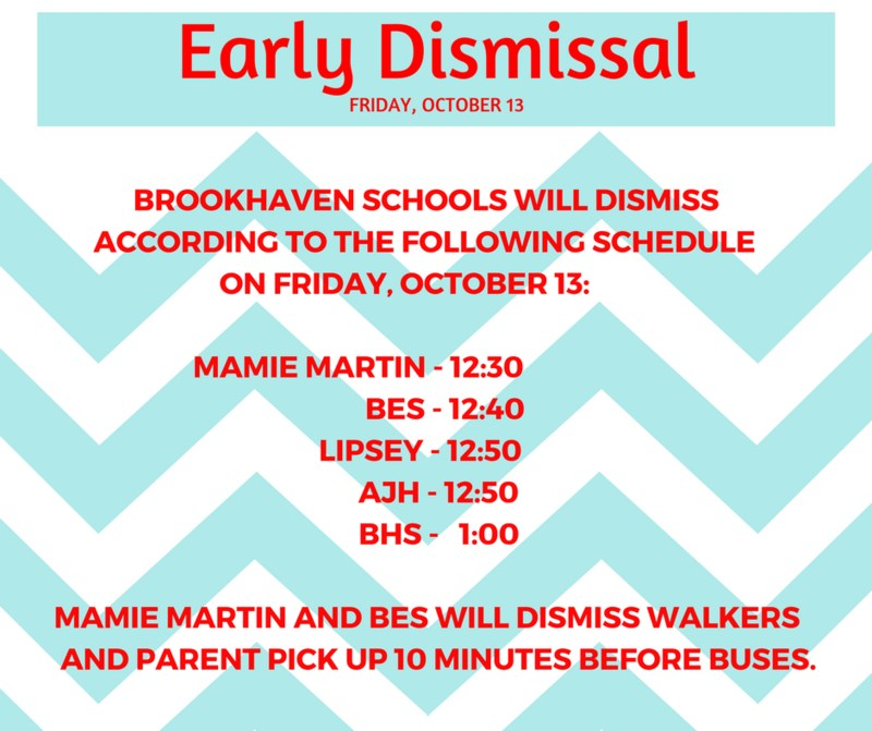 Early Dismissal Schedule Thumbnail Image