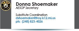 Donna Shoemaker, dshoemaker@troy.k12.mi.us.
