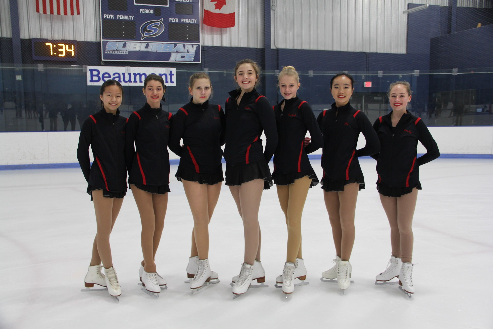 The Troy United Figure Skating team finished their regular season last week. The B Team not only won the competition but also won the district championship.  They are now heading to the State championship on March 4th.    The C team placed third overall in the district.  Congratulations to Troy High Students: Rachel Burke, Chloe Cafferty and Kristina Chen.