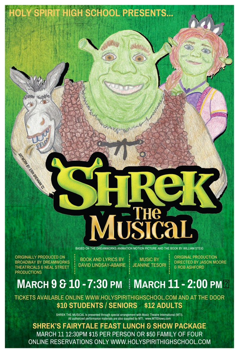 HSHS Proudly Presents:  SHREK THE MUSICAL! Featured Photo