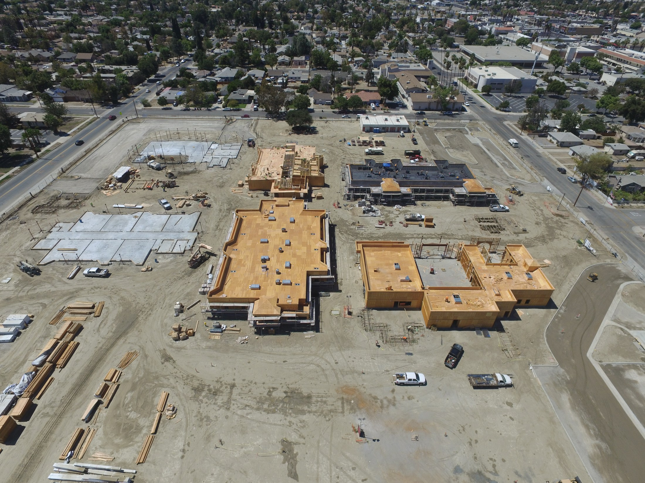 Aeriel view of Hemet Elementary under construction