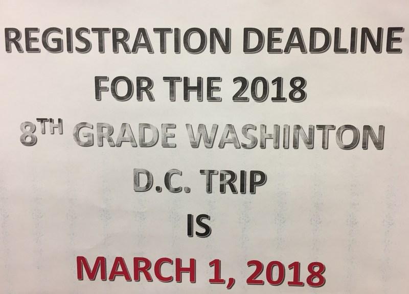 LMS 2018 Washington DC Trip Registration Deadline March 1 Thumbnail Image