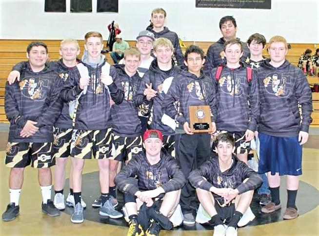 Cañon City Tigers wrestling team took first place