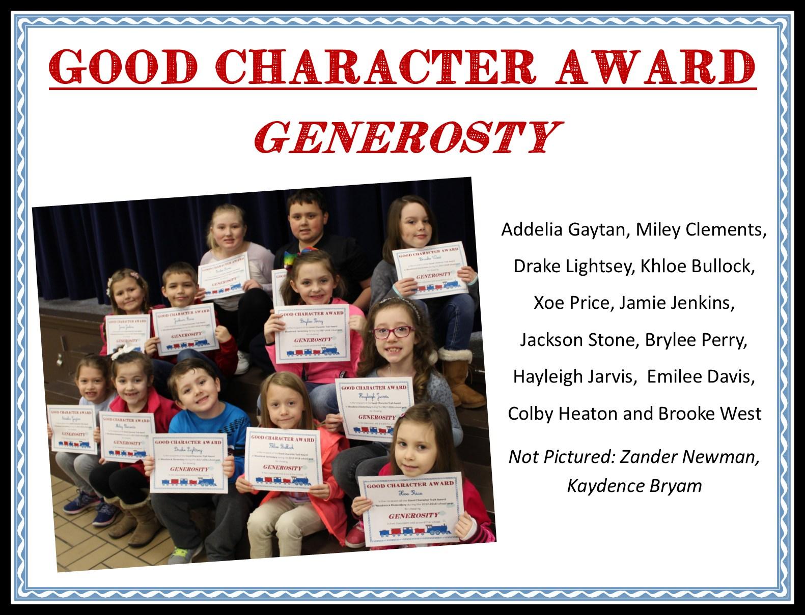 students with generosity award