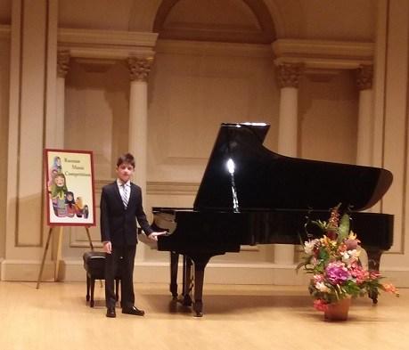 Aidan Wizeman Plays Piano at Carnegie Hall Thumbnail Image