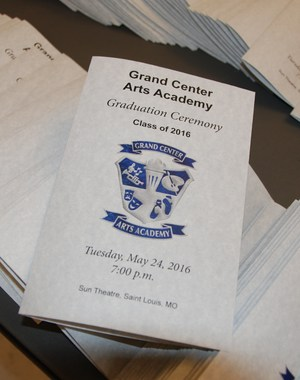 GCAA Class of 2016 graduation program