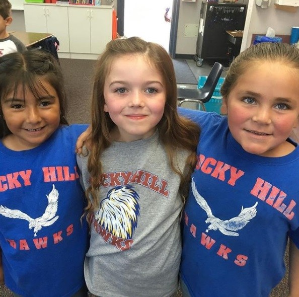 Rocky Hill students showing school spirit