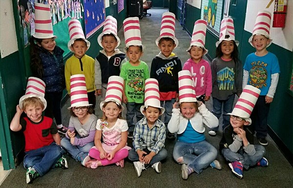 Children in Cat in the Hat garb