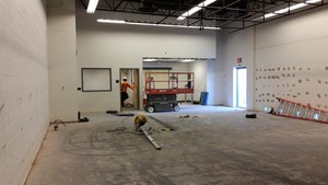 new construction to wrestling room
