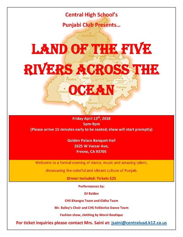 Land of Five Rivers flier