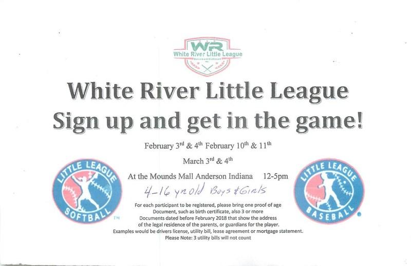 White River Little League Sign-up Information Thumbnail Image