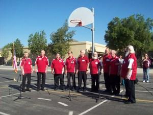 Hemet Harmonizers performing the National Anthem
