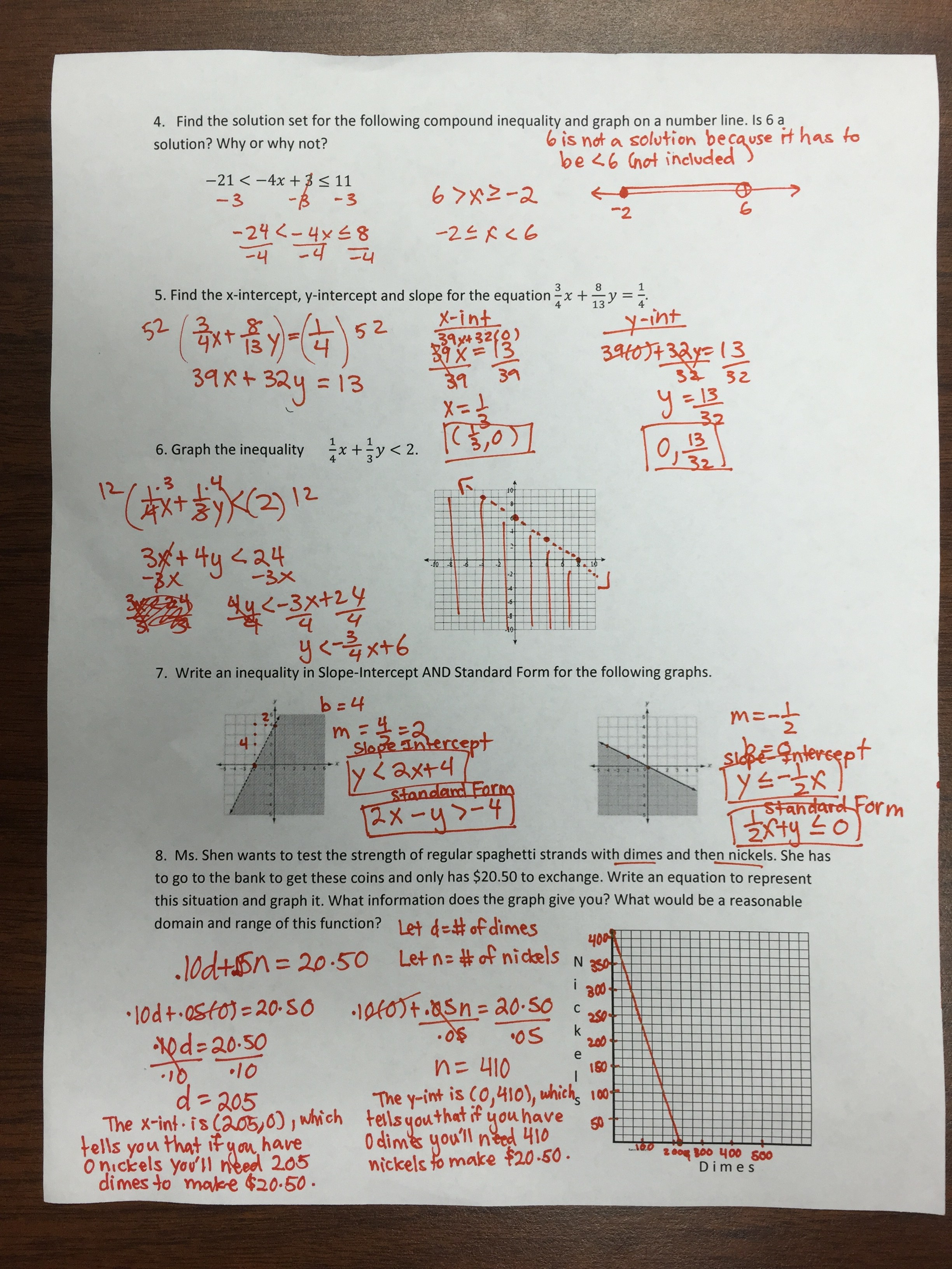 Linear Functions Equations And Inequalities Unit 3 Test