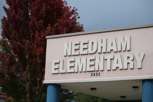Entrance to Needham Elementary