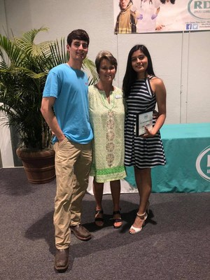 A picture of RDA Director Sherri Yarborough and the two student winners.