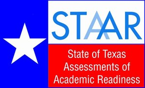 Texas STAAR emblem.