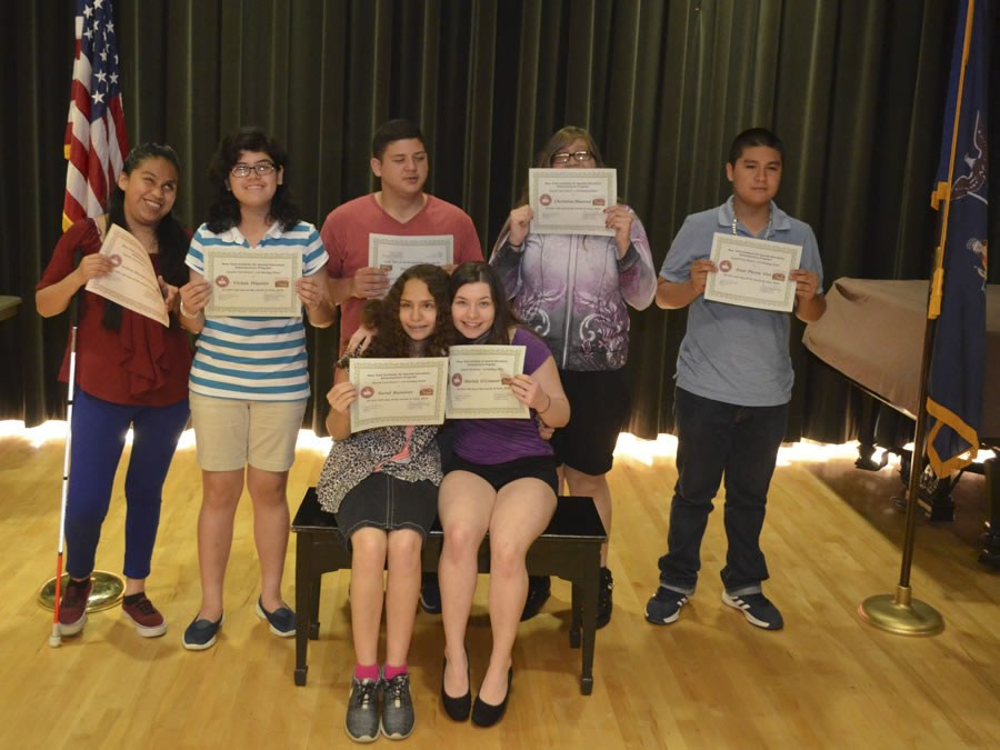 Group of students after recieving academic awards