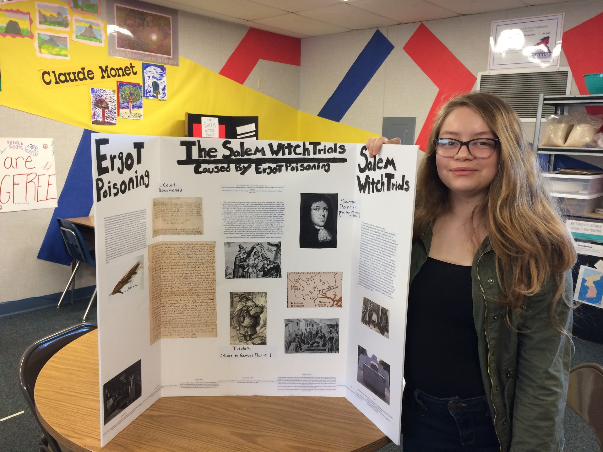 Student presenting History Day Project