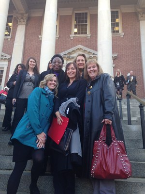 On the steps of the State House.JPG