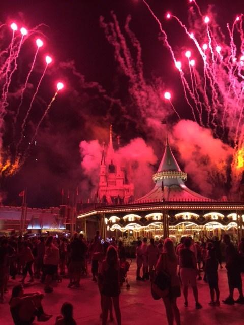 Fireworks by Cinderella's Castle
