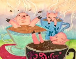 coffee pigs art