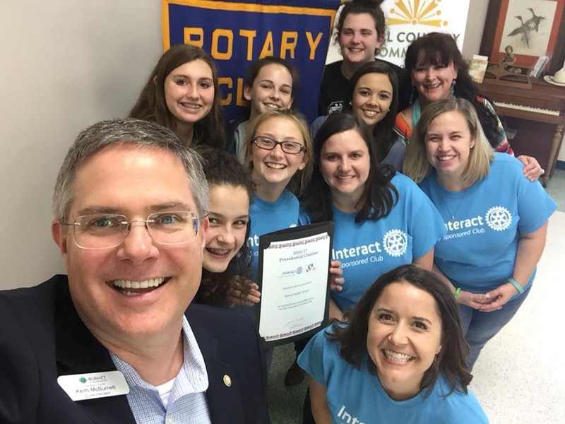 Interact Clubs Receive Award Thumbnail Image