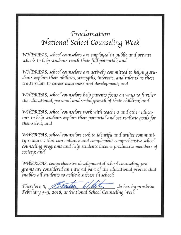 National School Counselors Week Thumbnail Image