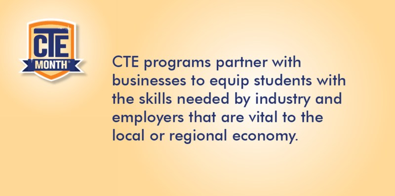 CTE Fact for the day flyer.