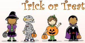 trick or treating cartoon