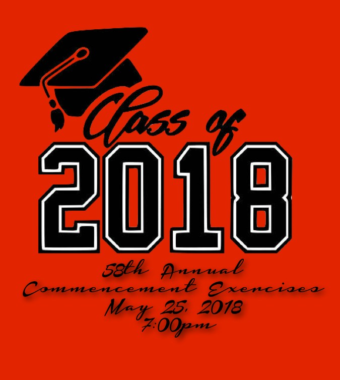 Graduation May 25th at 7:00pm