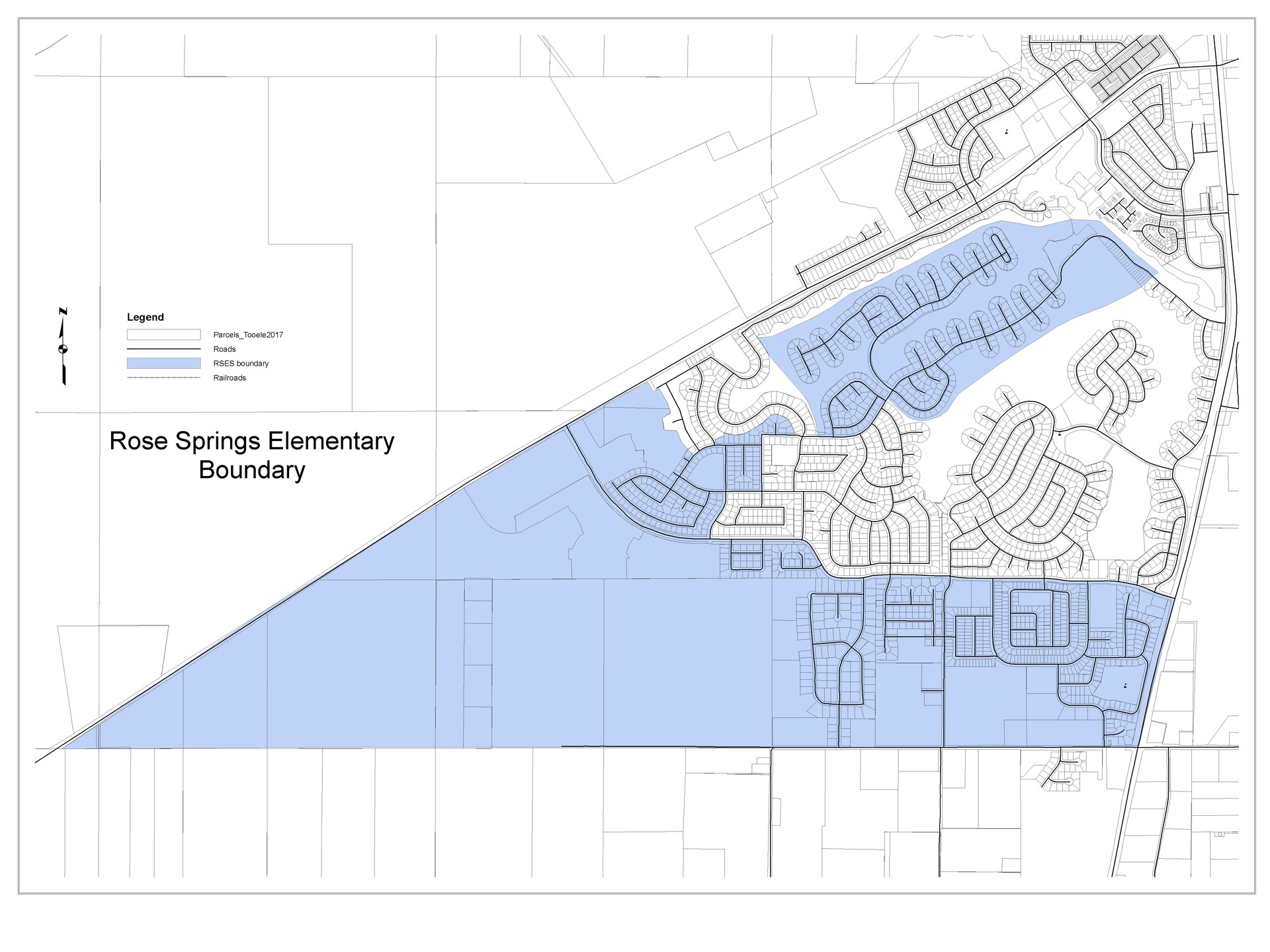 Rose Springs Elementary boundary