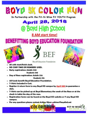 Boyd Color Run