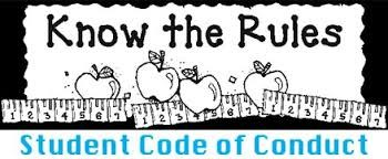 Clipart Title of know the rules with apples and rulers