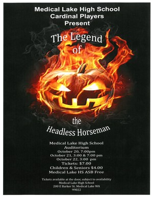 Cardinal Players Presentation of the Legend of the Headless Horseman Flyer