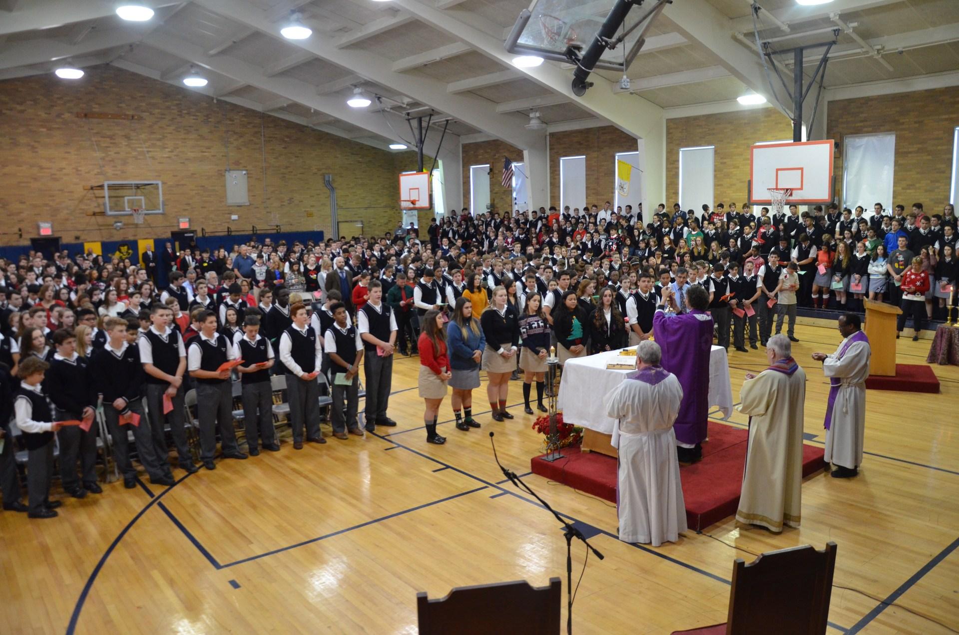 Christmas mass celebration of Eucharist