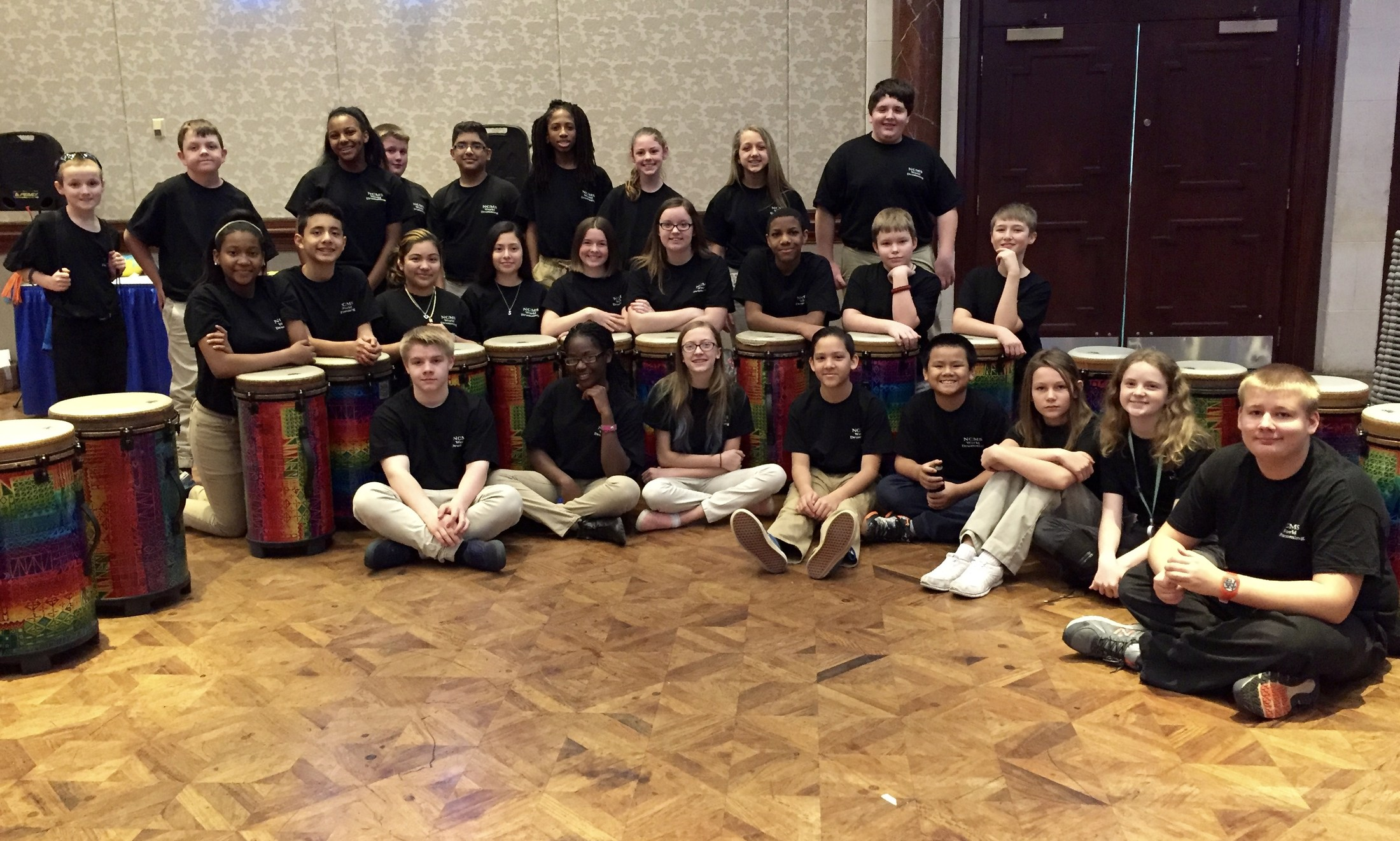 World Music Drummers at Middle School Conference