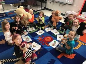 Emily Conover pre-K class waking up teddy bears from hibernation.jpg