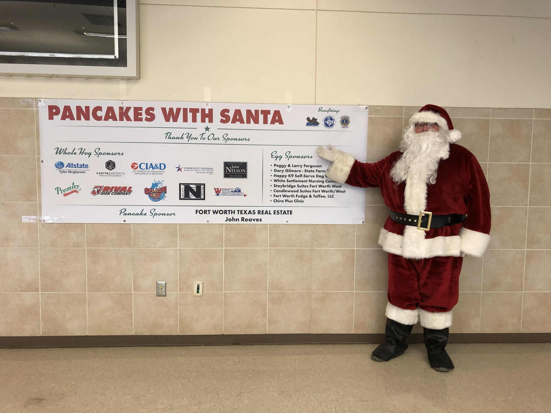 Thanks to our Pancakes with Santa sponsors!