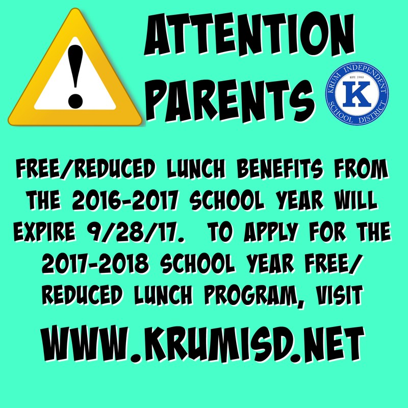 2016-2017 Free/Reduce Lunch Expires 9/28/2017 Thumbnail Image